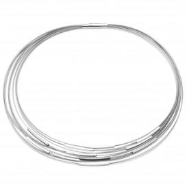 YO DESIGN T1025 Ketting Galileo Black staal-zilver zwart-zilverkleurig 43 cm