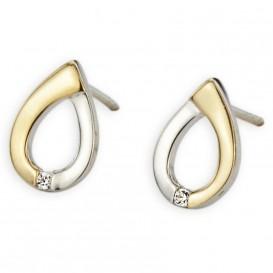 YO DESIGN T1056 Oorbellen Shine zilver goud-en zilverkleurig