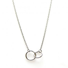 Karma T20-COL-DC-S Ketting Double Circle zilver 38-45 cm