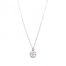 Karma T35-COL-S-38-45 Ketting Coin zilver 38-45 cm