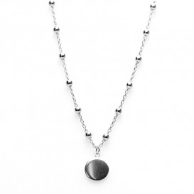 Karma T38-COL-S-38-45 Ketting Dots Disc zilver 38-45 cm