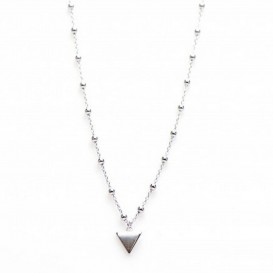 Karma T41-COL-T7-S Ketting 7 Triangles zilver 38-45 cm