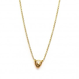 Karma T64-COL-S-38-45 Ketting Leopard zilver 38-45 cm