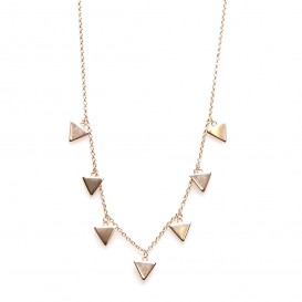 Karma T93-COL-T7-RP Ketting 7 Triangles zilver rosekleurig 38-45 cm