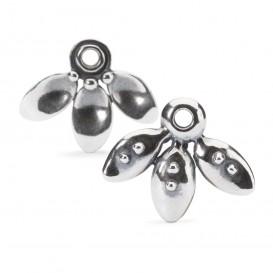 Trollbeads TAGEA-10009 Oorbellen Hangers Hangende bloemblaadjes zilver