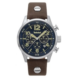 Timberland horloge Jenness Dark Brown-Blue 44 mm TBL.15376JS/03