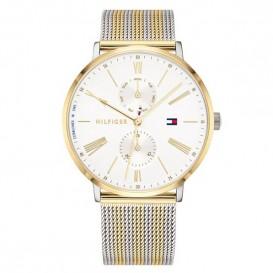 Tommy Hilfiger TH1782074 Horloge Jenna zilver- en goudkleurig 38 mm