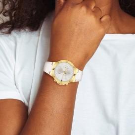 Tommy Hilfiger TH1782333 Horloge Multifunctie staal-siliconen goudkleurig-wit 38 mm