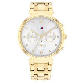 Tommy Hilfiger TH1782344 Horloge Multifunctie staal goudkleurig-wit 38 mm