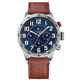 Tommy Hilfiger Horloge Trent staal/leder 46 mm TH1791066