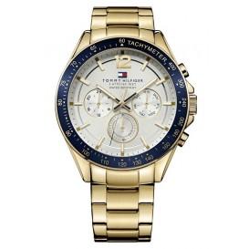 Tommy Hilfiger Horloge Luke goudkleurig-blauw 46 mm TH1791121