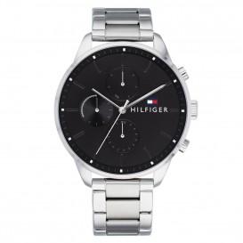 Tommy Hilfiger Horloge Chase 44 mm zilverkleurig-zwart 1791485