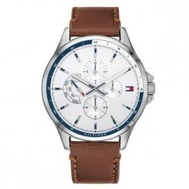 Tommy Hilfiger TH1791614 Horloge Shawn staal/leder 44 mm