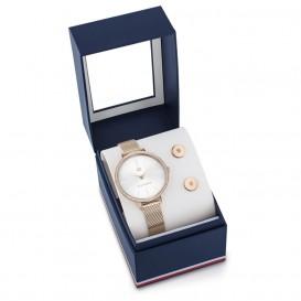 Tommy Hilfiger TH2770055 Horloge + Oorknoppen giftset rosekleurig