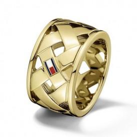 Tommy Hilfiger TJ2701024 Ring staal goudkleurig Maat 58