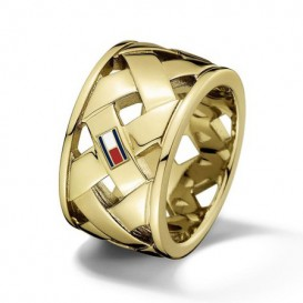 Tommy Hilfiger TJ2701024 Ring staal goudkleurig Maat 56