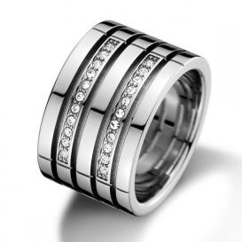 Tommy Hilfiger TJ2701026 Ring Multi Band staal zilverkleurig Maat 56