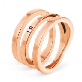 Tommy Hilfiger TJ2701099 Ring staal rosekleurig Maat 56
