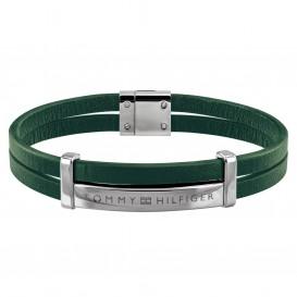 Tommy Hilfiger TJ2790074 Armband leder/staal groen