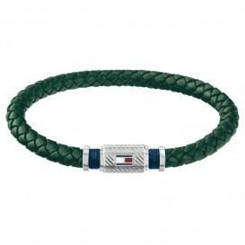Tommy Hilfiger TJ2790084 Armband leder/staal groen