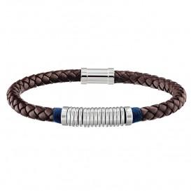 Tommy Hilfiger TJ2790154 Armband leder/staal bruin 21,5 cm