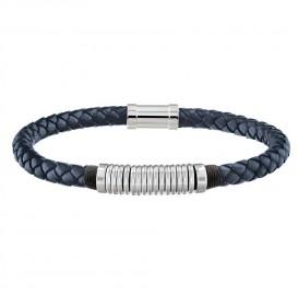 Tommy Hilfiger TJ2790155 Armband leder/staal blauw