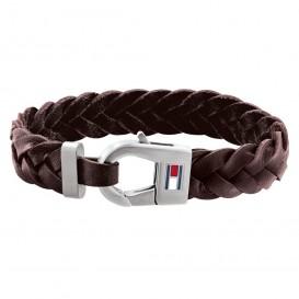 Tommy Hilfiger TJ2790156 Armband leder/staal bruin 21 cm