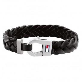 Tommy Hilfiger TJ2790157 Armband leder/staal zwart 21 cm