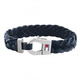 Tommy Hilfiger TJ2790158 Armband leder/staal blauw 21 cm