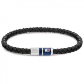 Tommy Hilfiger TJ2790293 Armband staal-leder bruin-zilverkleurig 21,5 cm