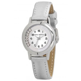 Coolwatch kinderhorloge 'Dazling Diamonds' zilvergrijs CW.211