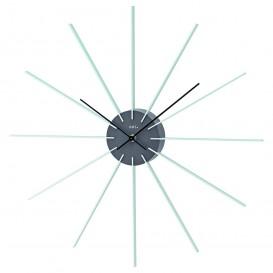 AMS W9595 Wandklok wit-grijs, aluminium en quartz uurwerk 50 cm
