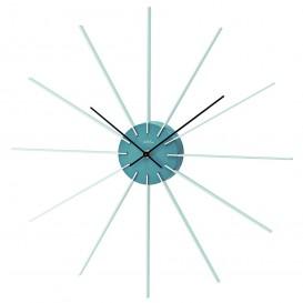 AMS W9596 Wandklok grijs, kunststof, aluminium en quartz uurwerk 50 cm