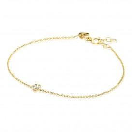 Zinzi Gold Armband goud met zirconia 18-20 cm ZGA184