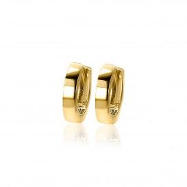 Zinzi Gold oorbellen Klapcreolen goud 12 x 2,5 mm ZGO119