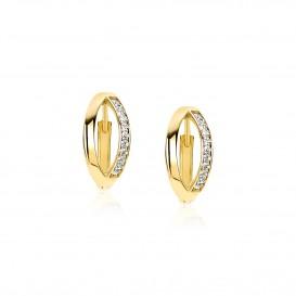 Zinzi Gold oorbellen Klapcreolen goud 14 x 6,6 mm ZGO207-1