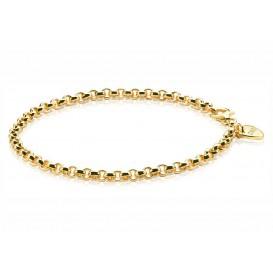 Zinzi ZIA1009G Armband zilver jasseron goudkleurig