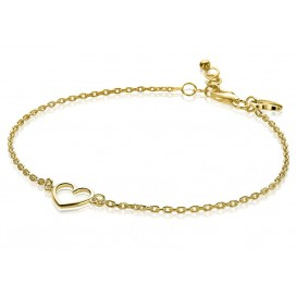 Zinzi ZIA1420G Armband zilver Hart goudkleurig 18,5-20,5 cm
