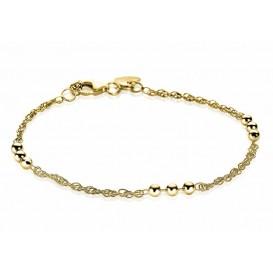 Zinzi armband zilver goudkleurig Bolletjes 17-19 cm ZIA1422G