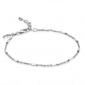 Zinzi ZIA1648 Armband zilver anker/staafjes 17,5 - 20 cm