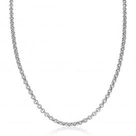 Zinzi ZIC1911 Ketting Jasseron zilver 4,5 mm 42-45 cm