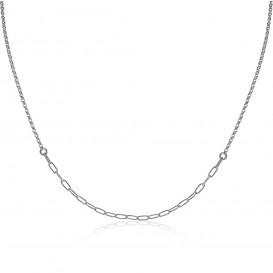 Zinzi ZIC1989 Ketting Ovaal zilver 40-45 cm