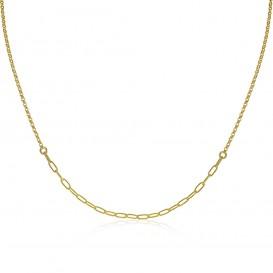 Zinzi ZIC1989G Ketting Ovaal zilver goudkleurig 40-45 cm