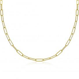 Zinzi ZIC1992G Ketting Ovaal zilver goudkleurig 40-45 cm