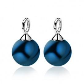 Zinzi ZICH266B Oorringbedels zilver met blauwe parel