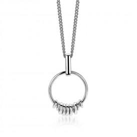 Zinzi hanger zilver met ringetjes ZIH1439