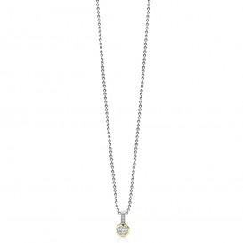 Zinzi ZIH1662G Hanger zilver- en goudkleurig met zirconia