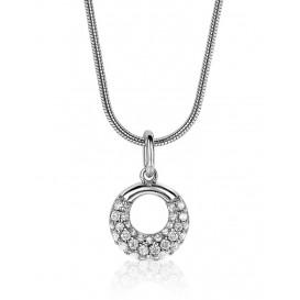 Zinzi ZIH1757 Hanger open cirkelvorm zilver met zirconia