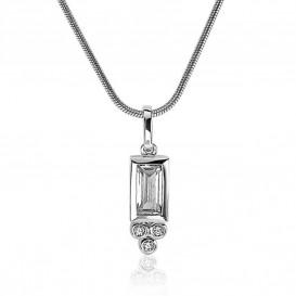 Zinzi ZIH1820 zilver met zirconia rechthoek en rondjes