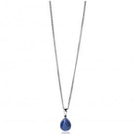 Zinzi ZIH1934B Hanger zilver met blauwe steen